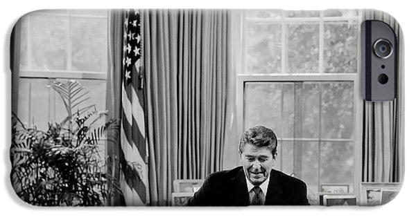 President Ronald Reagan IPhone Case by Mountain Dreams