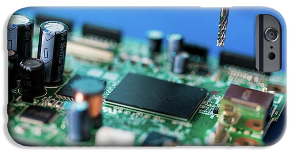 Printed Circuit Board Processing IPhone Case by Wladimir Bulgar