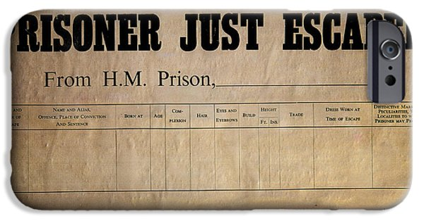 Prisoner Escaped IPhone Case by Adrian Evans