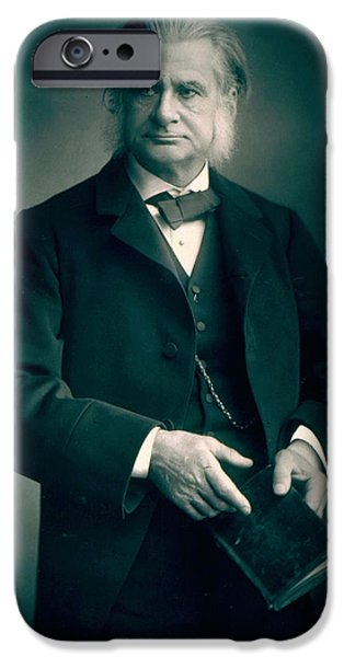 Professor Thomas H Huxley IPhone Case by Stanislaus Walery