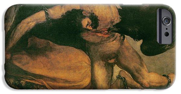 Prometheus Oil On Canvas IPhone Case by Francisco Jose de Goya y Lucientes