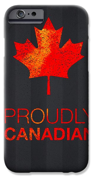 Proudly Canadian IPhone Case by Aged Pixel