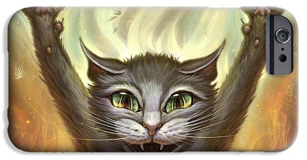 Psycho Cat IPhone Case by Jeff Haynie