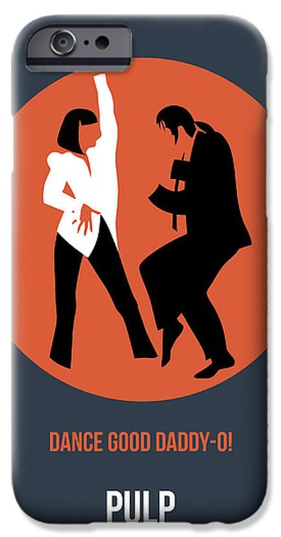 Pulp Fiction Poster 6 IPhone Case by Naxart Studio