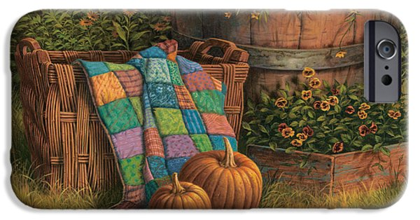 Pumpkins And Patches IPhone Case by Michael Humphries