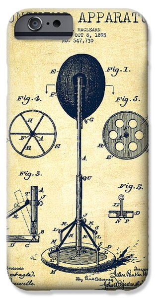 Punching Apparatus Patent Drawing From 1895 -vintage IPhone Case by Aged Pixel