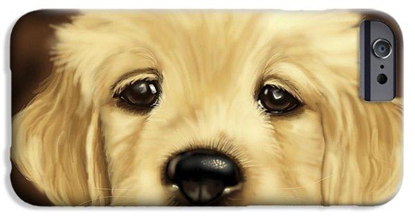 Puppy IPhone Case by Veronica Minozzi