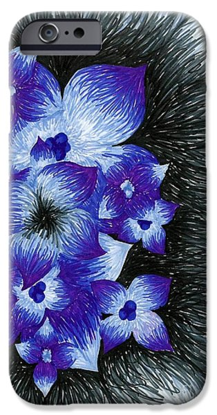 Purple IPhone Case by Allyson Andrewz