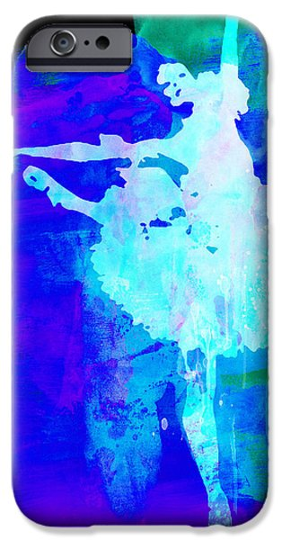 Purple Ballerina Watercolor IPhone Case by Naxart Studio