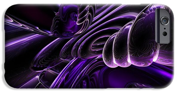 Purple Delusions Abstract IPhone Case by Alexander Butler