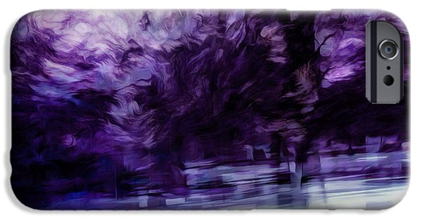 Purple Fire IPhone Case by Scott Norris