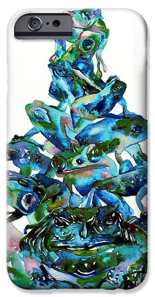 Pyramid Of Frogs And Toads IPhone 6s Case by Fabrizio Cassetta