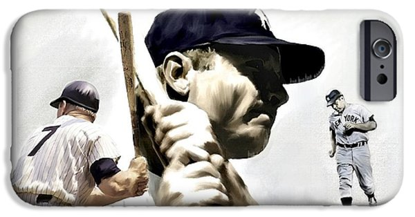 Quality Of Greatness Mickey Mantle IPhone 6s Case by Iconic Images Art Gallery David Pucciarelli