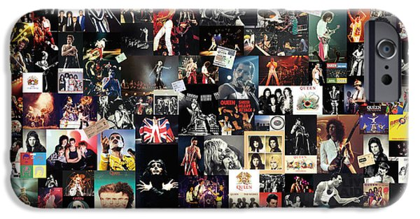 Queen Collage IPhone Case by Taylan Soyturk