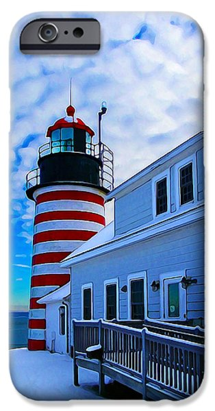 Quoddy Head Lighthouse In Winter 2 IPhone 6s Case by Bill Caldwell -        ABeautifulSky Photography