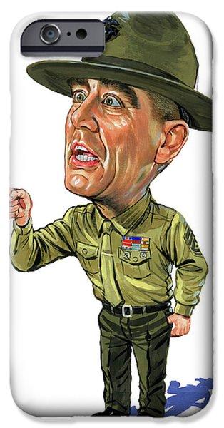 R. Lee Ermey As Gunnery Sergeant Hartman IPhone Case by Art