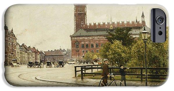 Raadhuspladsen, Copenhagen, 1893 Oil On Canvas IPhone Case by Paul Fischer