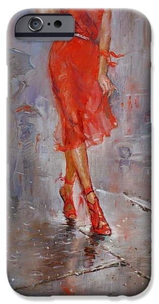 Rain In Manhattan IPhone Case by Ylli Haruni