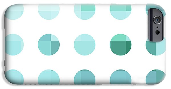 Rainbow Dots Aqua  IPhone Case by Pixel Chimp