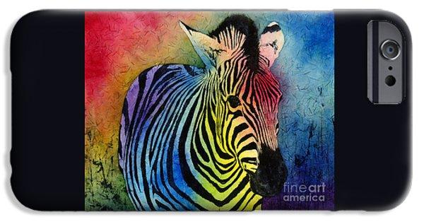 Rainbow Zebra IPhone Case by Hailey E Herrera