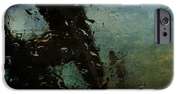 Rainful Abstract IPhone Case by Terry Rowe