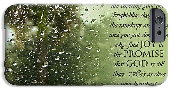 Rainy Day Promise IPhone Case by Carolyn Marshall