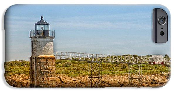 Ram Island Lighthouse IPhone Case by Karol Livote