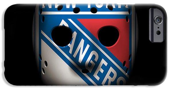 Rangers Goalie Mask IPhone Case by Joe Hamilton