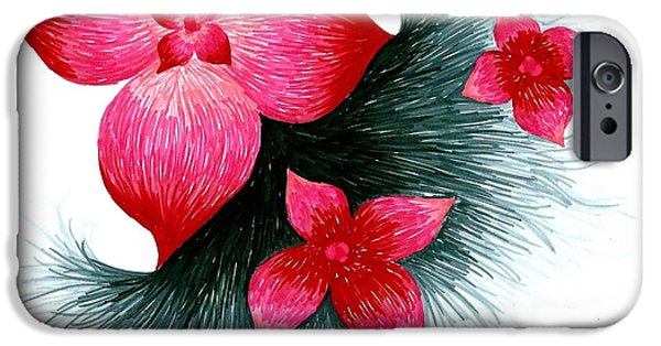 Red IPhone 6s Case by Allyson Andrewz