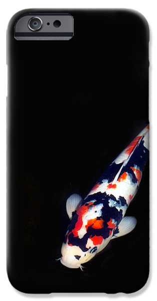 Red And Black Koi 2 IPhone Case by Rebecca Cozart