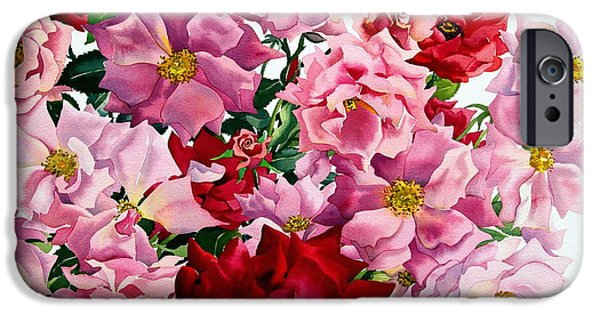 Red And Pink Roses IPhone Case by Christopher Ryland