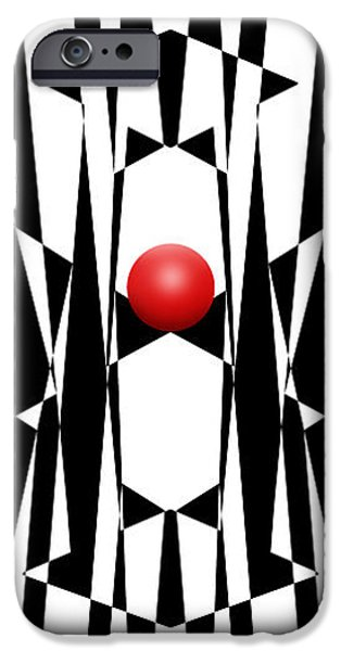 Red Ball 20 V Panoramic IPhone Case by Mike McGlothlen
