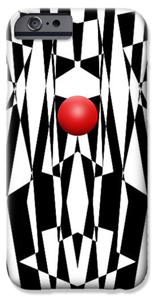 Red Ball 21 V Panoramic IPhone Case by Mike McGlothlen