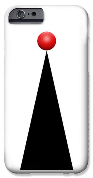 Red Ball 28a V Panoramic IPhone Case by Mike McGlothlen