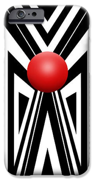 Red Ball 7 V Panoramic IPhone Case by Mike McGlothlen