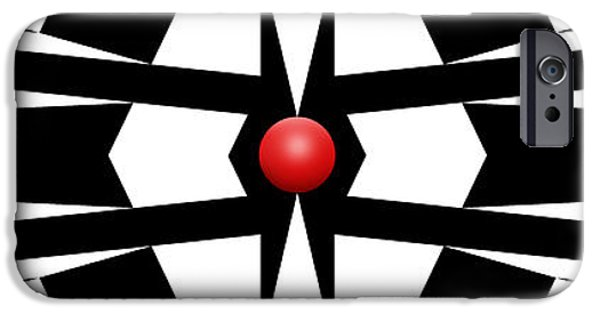 Red Ball 9a Panoramic IPhone Case by Mike McGlothlen
