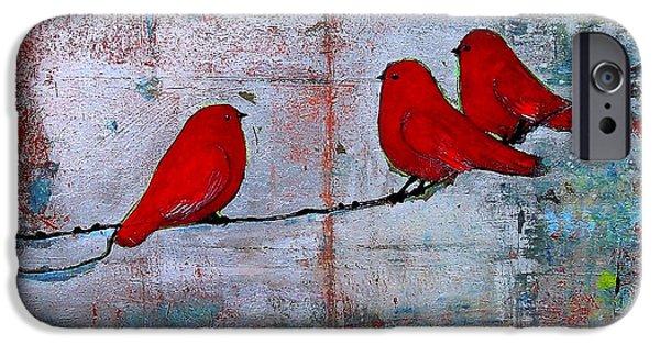 Red Birds Let It Be IPhone Case by Blenda Studio
