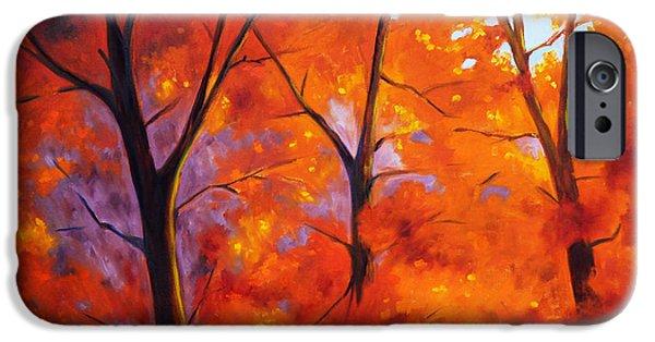 Red Blaze IPhone Case by Nancy Merkle