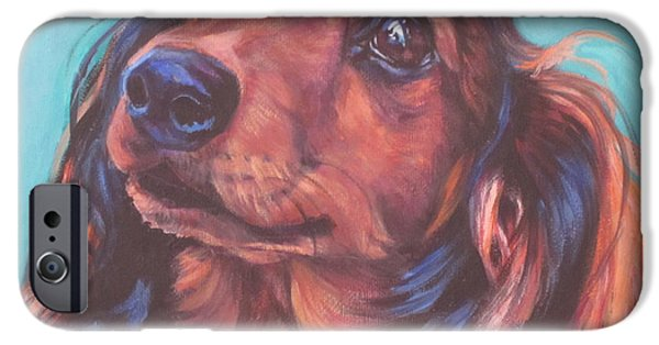 Red Doxie IPhone Case by Lee Ann Shepard