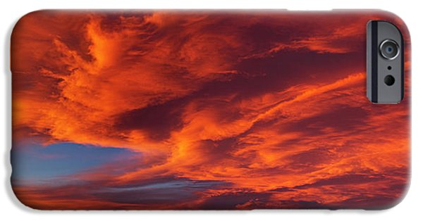 Red Dramatic Sky During Sunset, Taos IPhone Case by Panoramic Images