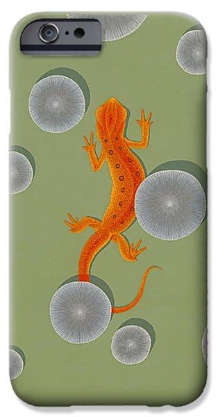 Red Eft Newt IPhone 6s Case by Nathan Marcy
