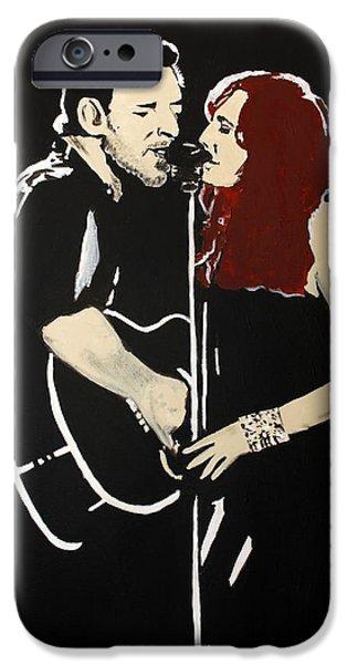 Red Headed Woman IPhone Case by Carmencita Balagtas