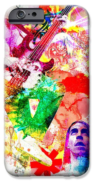 Red Hot Chili Peppers  IPhone Case by Ryan Rock Artist