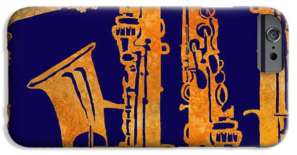 Red Hot Sax Keys IPhone 6s Case by Jenny Armitage