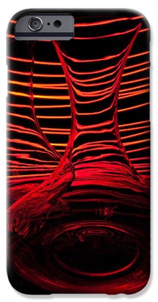 Red Rhythm Iv IPhone Case by Davorin Mance