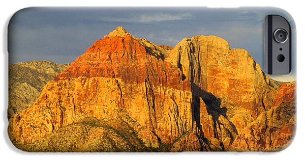 Red Rock Canyon 2014 Number 1 IPhone Case by Randall Weidner