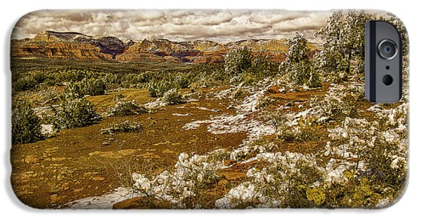 Red Rock Secret Mountain Wilderness Sedona Arizona IPhone Case by Bob and Nadine Johnston