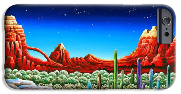 Red Rocks 5 IPhone Case by Andy Russell