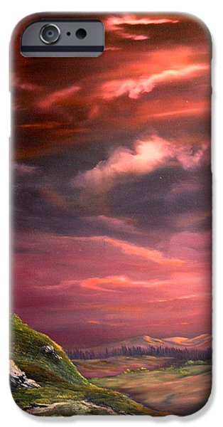 Red Sky At Night IPhone 6s Case by Jean Walker