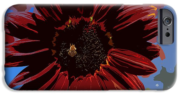 Red Sun Honey Cut Out IPhone Case by Scott Campbell